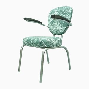 Mid-Century Armlehnstuhl aus Stahlrohr von Drabert, 1960er