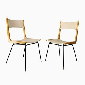Mid-Century Sedie Boomerang Chairs by Carlo de Carli, Set of 2