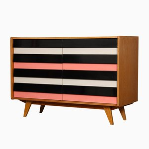 Pink & White U-453 Chest of Drawers by Jiří Jiroutek for Interier Praha, 1960s