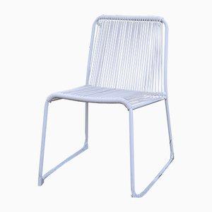Chaise de Jardin en Fer & Caoutchouc Blanc, 1960s