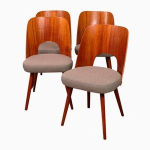 Chairs by Oswald Haerdlt for Tatra Nabytok, 1950s, Set of 4