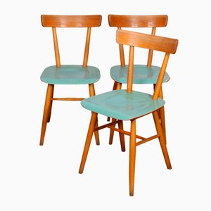 Blue Chairs from TON, 1960s, Set of 3