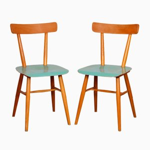 Blue Chairs from TON, 1960s, Set of 2