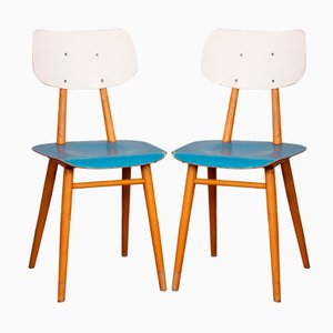 Holzstühle von TON, 1960er, 2er Set