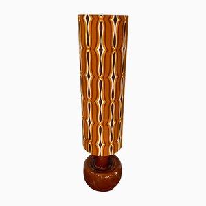 Psychedelische Stehlampe aus Keramik in Orange & Braun, 1970er