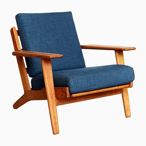 Danish GE 290 The Plank Lounge Chair by Hans J. Wegner for Getama, 1953