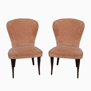 Samt Sessel, 1950er, 2er Set