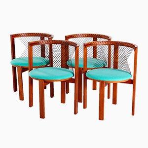 String Chairs by Niels Jørgen Haugesen for Tranekær Furniture, 1980s, Set of 4