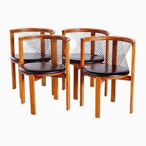 Stühle von Niels Jørgen Haugesen für Tranekær Furniture, 1980er, 4er Set