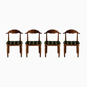 Esszimmerstühle von Henning Kjærnulf, 1960er, 4er Set