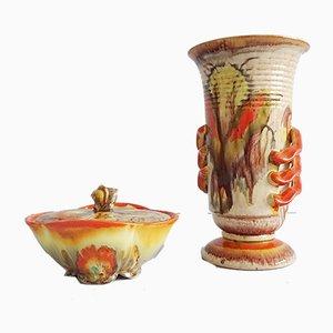 Vintage Deckeldose von Streuler & Vase von Dümler & Breiden, 2er Set