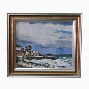 Gunnar Herman Berglund, Swedish Modern Painting, 1962, Öl auf Leinwand