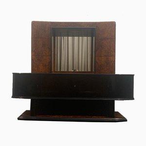 Ebenholz & Wurzelholz Sideboard, 1930er
