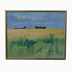 Inge Blomqvist, Scandinavian Expressionist Painting, 1970s, Oil On Canvas