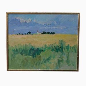Inge Blomqvist, Skandinavische Expressionistische Malerei, 1970er, Öl auf Leinwand