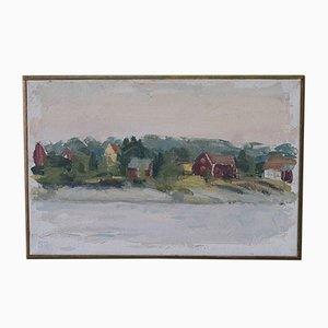 Sten Oscar Rundgren, Swedish Modern Painting, 1982, Oil On Canvas