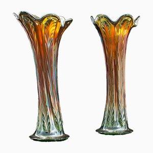 Englische Vintage Vasen, 1960er, 2er Set