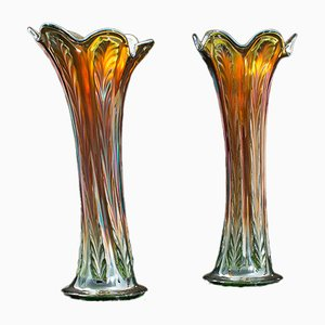 Vintage English Decorative Vases, 1960s, Set of 2