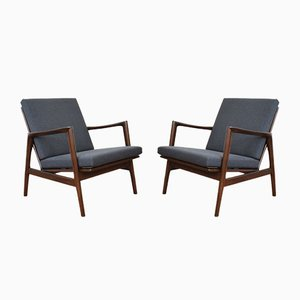Mid-Century Polish Stefan Lounge Chairs, 1960s, Set of 2