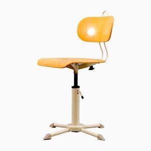 Minimalistischer Vintage Bürostuhl mit Rückenlehne, 1950er
