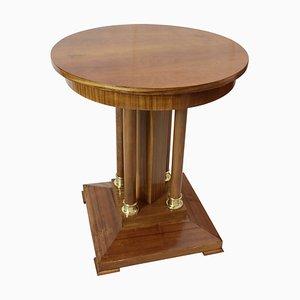 Small Antique Art Nouveau Walnut & Mahogany Side Table