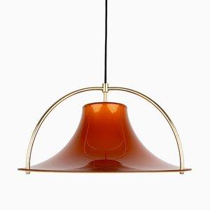 Vintage Danish Single Pendant Lamp by Johannes Hammerborg for Fog & Mørup, 1970s