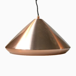 Vintage Danish Copper Pendant Lamp from Fog & Morup, 1970s