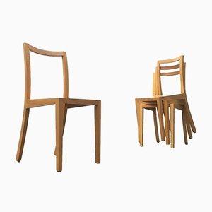 Vintage Esszimmerstühle aus Holz von Sirch, Bitzer, 4er Set