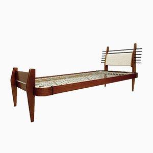 Italian Wooden Bed, 1960s