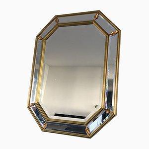 Vintage Facet Cut Hollywood Regency Mirror, 1960s