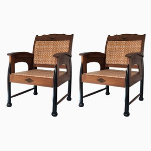 Indonesian Armchairs, 1920s, Set of 2