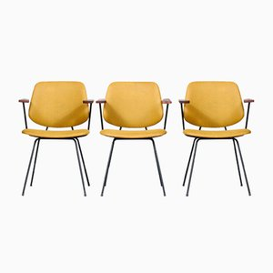 Armchairs by Wim Rietveld for Kembo, 1950s, Set of 3