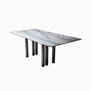 Grey & Purple Marble Dining Table by Pia Manu
