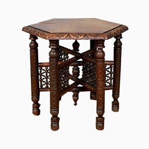 Antique Moorish Mashrabiya Side Table