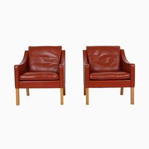 2207 Sessel von Børge Mogensen für Fredericia, 2000er, 2er Set