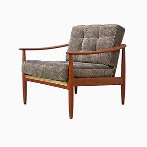 Teak & Velour Chair from Goldfeder, 1960s