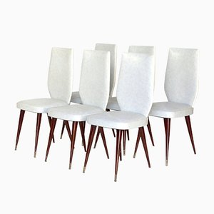 Italian Dining Chairs in the Style of Vittorio Dassi, 1950s, Set of 6