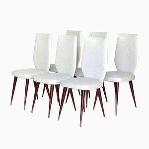 Italienische Esszimmerstühle im Stil von Vittorio Dassi, 1950er, 6er Set