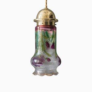 Art Nouveau Pendant Lamp with Original Glass, 1909