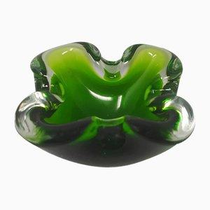Green Vide Poche by Flavio Poli for Seguso, 1960s