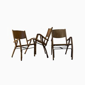 Chaises Pliables Vintage par Antonio Rossin pour Bernini, Set de 3