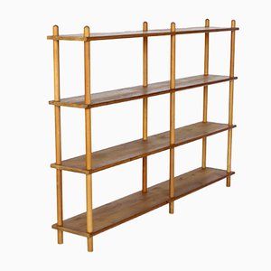 Dutch Pine & Birch Shelving in the Style of Willem Lutjens, 1950s