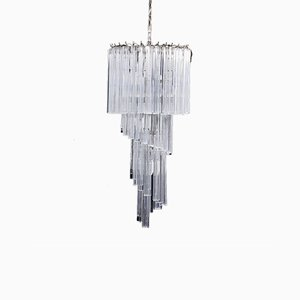 Mid-Century Murano Glass Chandelier by Paolo Venini for Venini