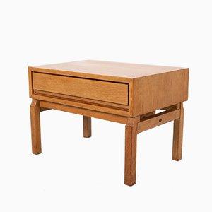 Scandinavian Oak Side Table, 1960s