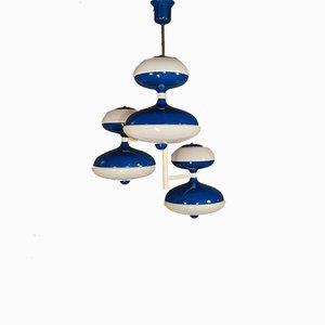 Mid-Century Deckenlampe mit 6 Leuchten