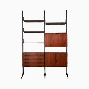 Italian Rosewood Shelf, 1960s