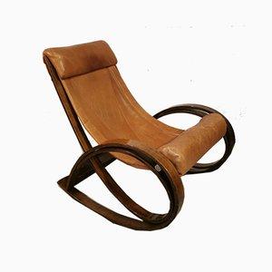 Sedia a dondolo Sgarsul di Gae Aulenti per Poltronova, anni '60
