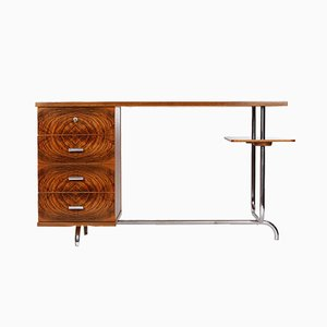 Vintage H 180 Steel Tube Desk by Jindřich Halabala for Spojene UP Zavody