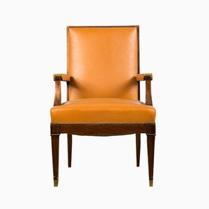 Large French Art Deco Armchair in the Style of Jean Pascaud, 1940s