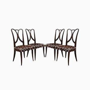 Chaises de Salon Art Déco Attribuées à Guglielmo Ulrich, Italie, 1940s, Set de 4